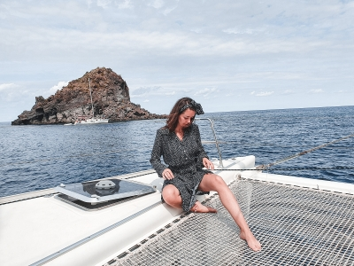 Catamaran tour and italian style